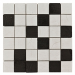 Emilia Nera Mix 2 Mosaic Decorative Travertine Tile