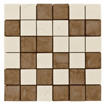 Emilia Nera Mix 3 Mosaic Decorative Travertine Tile