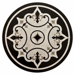 Fleur De Lis Black Decorative Medallion
