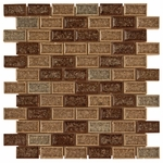 Fossil Canyon Brick Mosaic Glass Tile 8mm