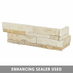 French Cema Limestone Corner Panel Ledger