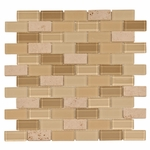 Gela Brick Mosaic Glass Tile 4mm