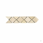 Geometric Diamond Travertine Mosaic Border
