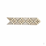 Geometric Diamond Cluster Travertine Mosaic Border