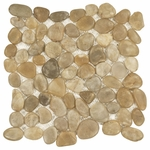 Gold Pebble Marble Mosaic