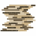 Granada Mix Stick Mosaic Glass & Stone Tile 8mm