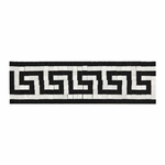 Greek Key Marble Bullnose