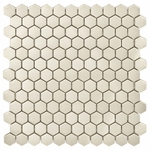 Honeycomb Silver Mosaic Metal Tile