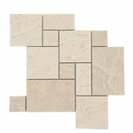 Ivory Mini Pattern Mosaic Travertine Tile