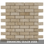 Ivory Silver Mosaic Travertine Tile