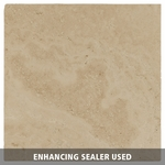 Ivory Silver Brushed Travertine Tile