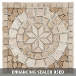 Kalamata Decorative Travertine Medallion