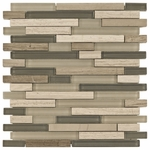 La Palma Mix Stick Mosaic Glass & Stone Tile 8mm