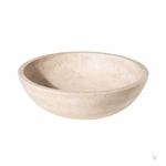 Light Round Travertine Sink