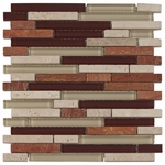 Lima Glass & Stone Mix Tile 8mm