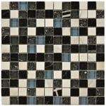 Loft Mix Mosaic Glass and Stone Tile 8mm