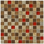Marbella Mix Mosaic Glass and Stone Tile 8mm
