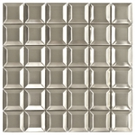 Matte Beveled Mosaic Metal Tile