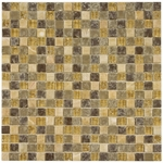 Mediterranean Mosaic Glass and Stone Tile 8mm