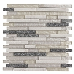 Menorca Mix Stick Mosaic Glass & Stone Tile 8mm