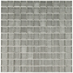 Metal Gray Glass Mosaic