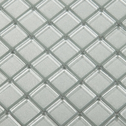 Metal Gray Mosaic Glass Tile 8mm