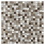 Metallico Earth Mosaic Metal & Glass Tile