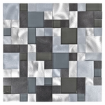 Metallico Ocean Metal & Glass Pattern Tile