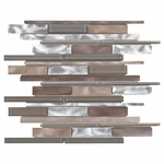 Metallico West Mosaic Metal & Glass Stick Tile