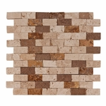 Mix Mosaic Travertine Tile