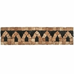 Decorative Travertine Mosaic Border