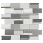 Nanuya Mix Brick Mosaic Glass Tile