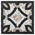 Nero Carrara and Gray Marble Mosaic