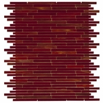 New Art Ruby Red Mini Mosaic Glass Tile 10mm