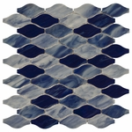 New Art Sky Blue Comb Mosaic Glass Tile