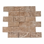 Noce Mosaic Travertine Tile