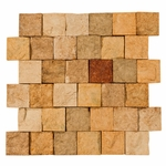 Orsini Light Square Stacked Brick Decorative Travertine Mosaic