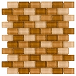 Paradise Valley Brick Mosaic Glass Tile 8mm