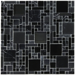 Pattern La Notte Mosaic Glass and Stone Tile 8mm
