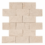 Pearl Brick Mosaic Travertine Tile