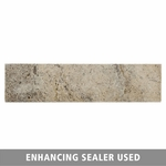 Pewter Brushed Travertine Bullnose