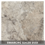Pewter Brushed Travertine Tile
