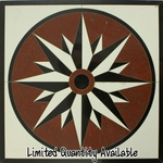 Polished Star Ceramic Medallion