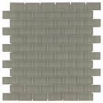 Pure Dusk Brick Mosaic Glass Tile 8mm
