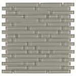Pure Dusk Stick Shiny Mosaic Glass Tile 8mm