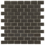 Pure Night Brick Matte Mosaic Glass Tile 8mm