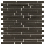 Pure Night Stick Matte Mosaic Glass Tile 8mm