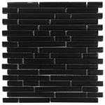 Pure Night Stick Shiny Mosaic Glass Tile 8mm