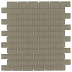 Pure Sand Brick Mosaic Glass Tile 8mm