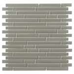 Pure Sand Stick Matte Mosaic Glass Tile 8mm